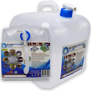 WaterStorageCube BPA-Free Collapsible Water Container 5.3 Gallon with Spigot